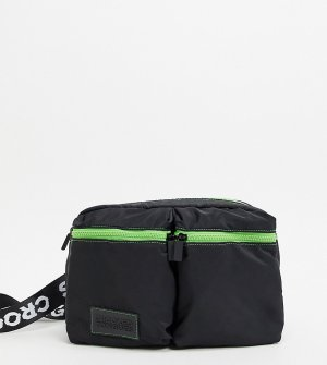 Черная сумка-кошелек на пояс -Черный цвет Crooked Tongues