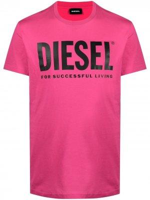 Футболка T-Diego-Logo с логотипом Diesel. Цвет: розовый