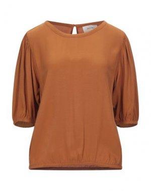 Блузка AMERICAN VINTAGE. Цвет: ржаво-коричневый