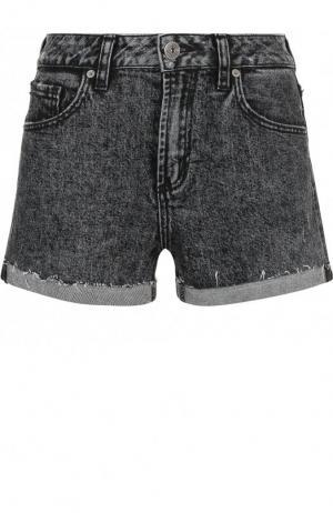 Джинсовые шорты с отворотами Paige. Цвет: черный