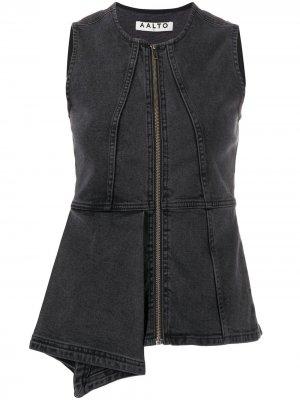 Джинсовая куртка без рукавов Aalto. Цвет: серый
