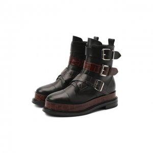 Кожаные ботинки Casadei. Цвет: чёрный