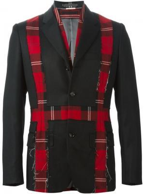 Пиджак и жилетка с клетчатыми вставками Comme Des Garçons Vintage. Цвет: чёрный