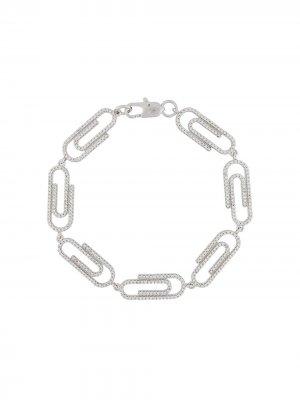 Декорированный браслет DARKAI. Цвет: серебристый