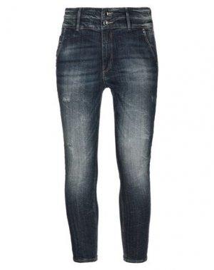Джинсовые брюки-капри BLUEFEEL by FRACOMINA. Цвет: синий