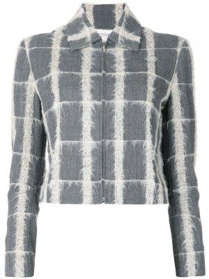 Пиджак в клетку Christian Dior. Цвет: серый