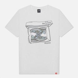 Мужская футболка Essentials Shoebox New Balance. Цвет: белый