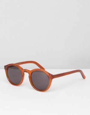 Оранжевые круглые солнцезащитные очки Monokel Eyewear. Цвет: оранжевый
