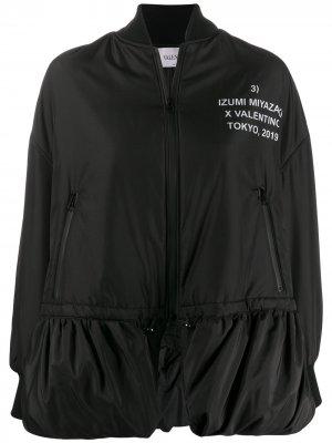 Куртка-бомбер Izumi Mizuki с принтом Valentino. Цвет: черный