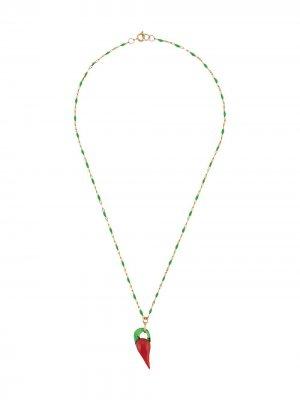 Цепочка на шею Chilli Glass с подвеской Sandralexandra. Цвет: золотистый