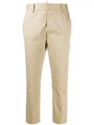 Укороченные брюки чинос скинни Dsquared2. Цвет: нейтральные цвета