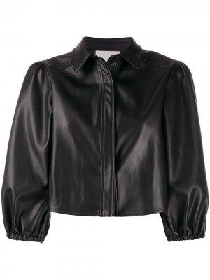 Куртка с укороченными объемными рукавами Alexis. Цвет: черный