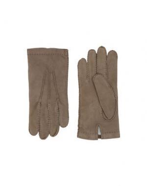 Перчатки ELEVENTY. Цвет: зеленый-милитари