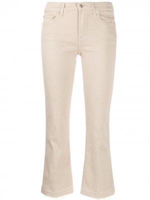 Укороченные джинсы кроя слим 7 For All Mankind. Цвет: нейтральные цвета