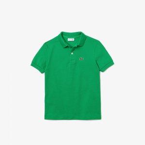 Поло Lacoste. Цвет: зеленый