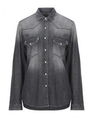 Джинсовая рубашка HAIKURE. Цвет: черный