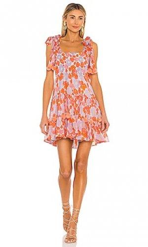 Мини платье pippa Sundress. Цвет: оранжевый
