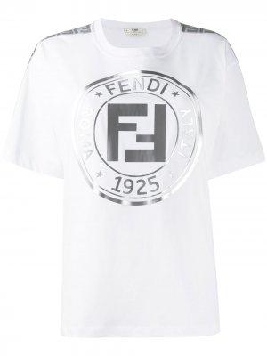 Футболка с логотипом Fendi. Цвет: белый
