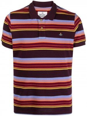 Рубашка поло в полоску Vivienne Westwood. Цвет: оранжевый