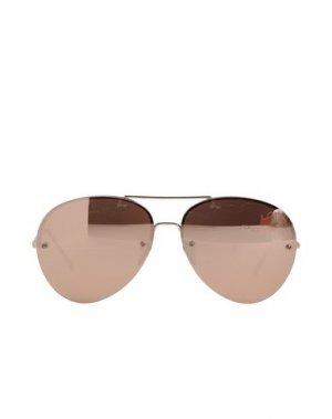 Солнечные очки LINDA FARROW. Цвет: бронзовый