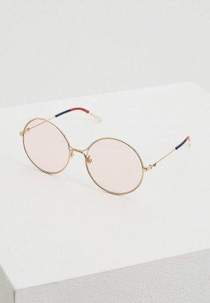 Очки солнцезащитные Gucci GG0395S004. Цвет: золотой