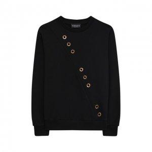 Хлопковый свитшот Versace. Цвет: чёрный