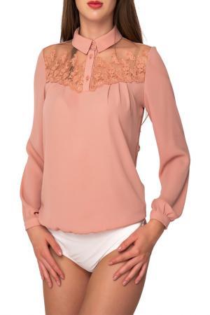 Блуза-боди Arefeva. Цвет: бежевый, слоновая кость