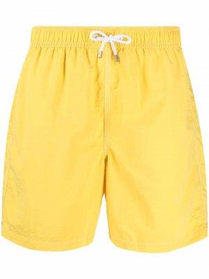 Плавки-шорты Hackett. Цвет: желтый