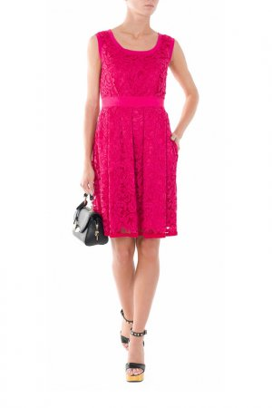 Платье Alberta Ferretti. Цвет: бордовый