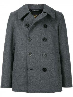 Двубортное пальто Gloverall. Цвет: серый