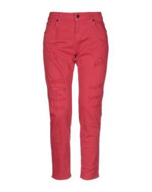Джинсовые брюки UP ★ JEANS. Цвет: красный