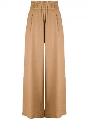 Широкие брюки с завышенной талией Semicouture. Цвет: нейтральные цвета