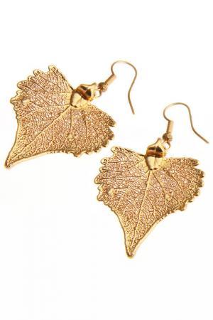 Серьги Ester Bijoux. Цвет: розовое золото