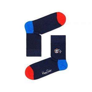 Embroidery Tiger Half Crew Sock Happy Socks. Цвет: черный