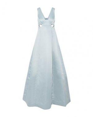Длинное платье HALSTON. Цвет: небесно-голубой