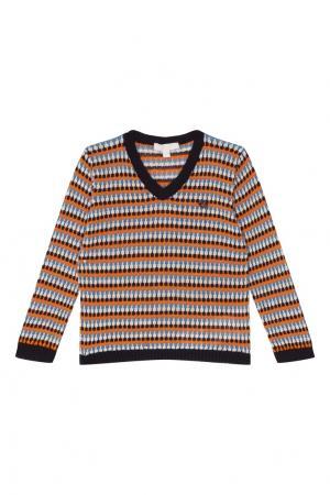 Пуловер с пестрым узором Gucci Kids. Цвет: multicolor
