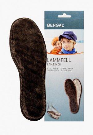 Стельки Bergal LAMBSKIN KINDER. Цвет: коричневый