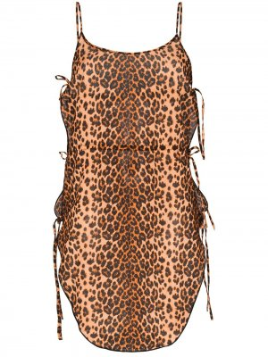 Kittie leopard print beach dress Agent Provocateur. Цвет: коричневый