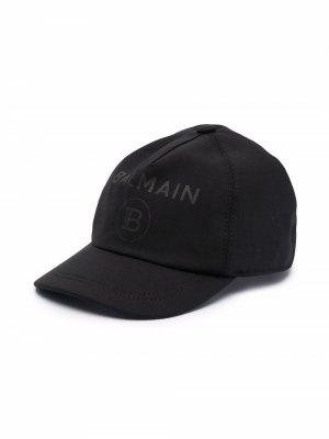 Бейсболка с логотипом Balmain Kids. Цвет: черный