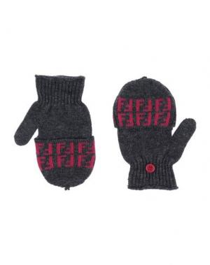 Перчатки FENDI. Цвет: свинцово-серый