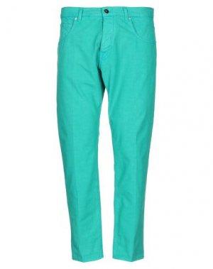 Повседневные брюки 2 MEN. Цвет: зеленый