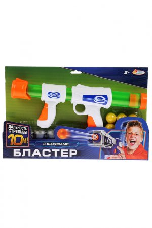 Бластер стреляющий шариками Играем вместе. Цвет: синий