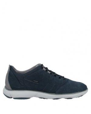 Низкие кеды и кроссовки GEOX. Цвет: темно-синий