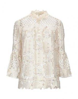 Блузка ANNA SUI. Цвет: бежевый