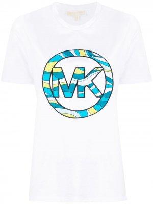 Футболка с логотипом Michael Kors. Цвет: белый