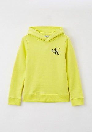 Худи Calvin Klein Jeans. Цвет: желтый