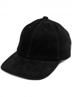 Вельветовая бейсболка со съемным декором Undercover. Цвет: черный