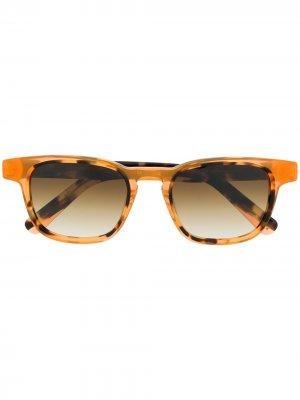 Солнцезащитные очки Ibiz01 в круглой оправе Etnia Barcelona. Цвет: коричневый