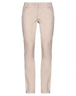 Повседневные брюки FLY GIRL. Цвет: бежевый