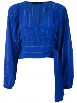 Блузка с пышными рукавами Eva. Цвет: синий